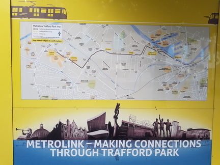 Trafford Park line route map